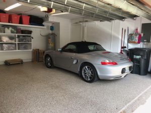 car in a garage