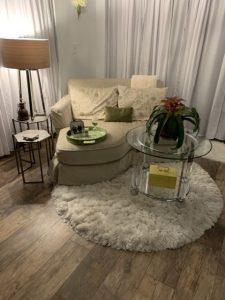 chair on a rug
